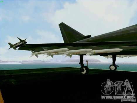 Eurofighter-2000 Typhoon para vista lateral GTA San Andreas