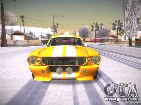 Shelby GT500 Eleanor para la visión correcta GTA San Andreas