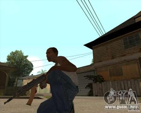 AK74U para GTA San Andreas segunda pantalla