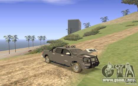 Toyota Tundra 4x4 para vista lateral GTA San Andreas