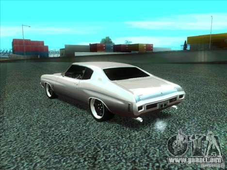 Chevrolet Chevelle SS Domenic from FnF 4 para GTA San Andreas left