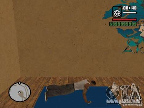 Training and Charging para GTA San Andreas segunda pantalla