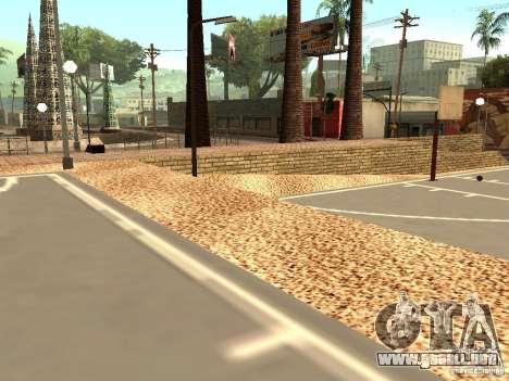La nueva cancha de baloncesto en Los Santos para GTA San Andreas sucesivamente de pantalla