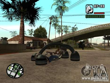 New Bravura UFO para GTA San Andreas left
