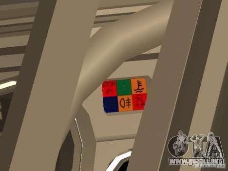 VAZ 2105 v. 2 para GTA San Andreas vista hacia atrás