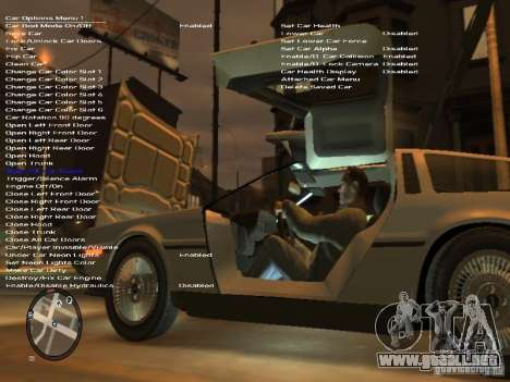 De Lorean DMC 12 para GTA 4 vista superior