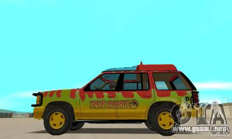 Ford Explorer (Jurassic Park) para GTA San Andreas left