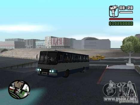 Ikarus 260.27 para GTA San Andreas vista posterior izquierda