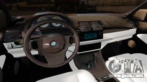 BMW X5 4.8IS BAKU para GTA 4 vista hacia atrás