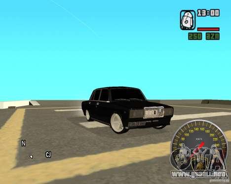 VAZ 2107 DuB para la visión correcta GTA San Andreas