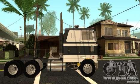 Peterbilt 362 Cabover para GTA San Andreas left