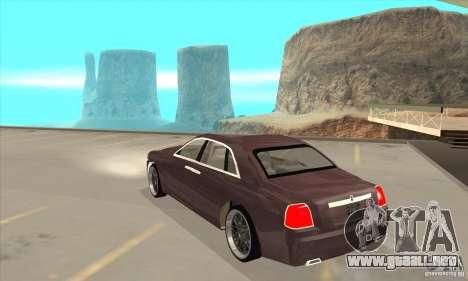 Rolls-Royce Ghost 2010 para GTA San Andreas vista posterior izquierda