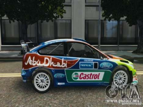 Ford Focus RS WRC para GTA 4 Vista posterior izquierda