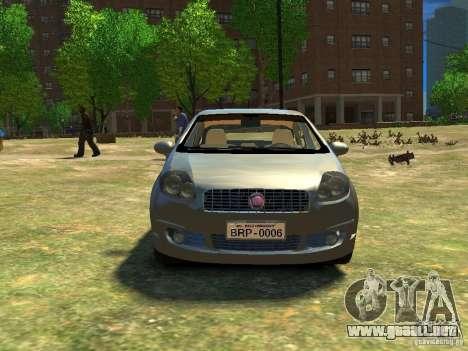 Fiat Linea para GTA 4 vista hacia atrás