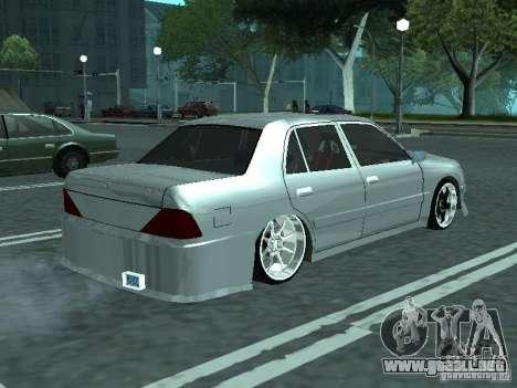 Toyota Crown S 150 TuninG para GTA San Andreas vista posterior izquierda