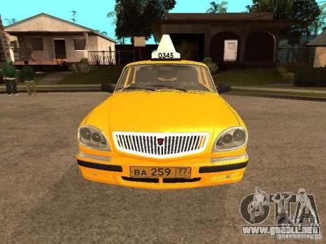 Volga GAZ-31105 Taxi para vista inferior GTA San Andreas