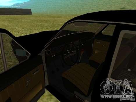 Volga GAZ-24 01 para GTA San Andreas vista hacia atrás