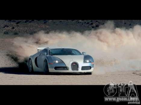 Cargando las pantallas Bugatti Veyron para GTA San Andreas sucesivamente de pantalla