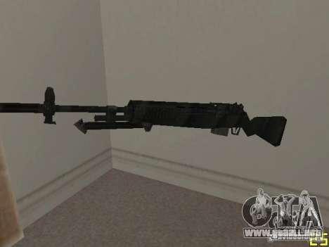 Armas de la COD MW 2 para GTA San Andreas segunda pantalla