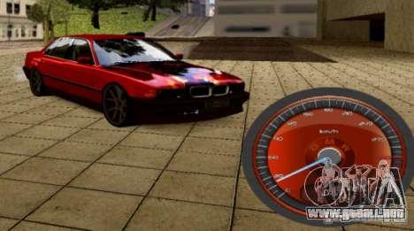 BMW velocímetro para GTA San Andreas segunda pantalla