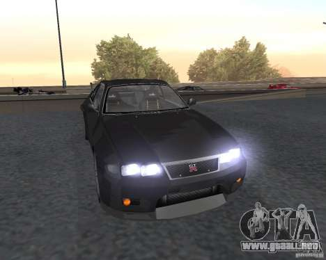 Nissan Skyline GT-R R-33 para vista lateral GTA San Andreas