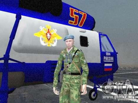 Ka-27 para GTA San Andreas vista hacia atrás