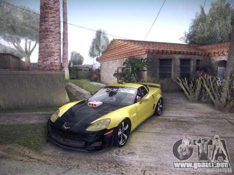 Chevrolet Corvette C6 Z06 Tuning para visión interna GTA San Andreas