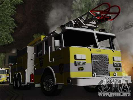 Pierce Arrow XT BCFD Tower Ladder 4 para la vista superior GTA San Andreas