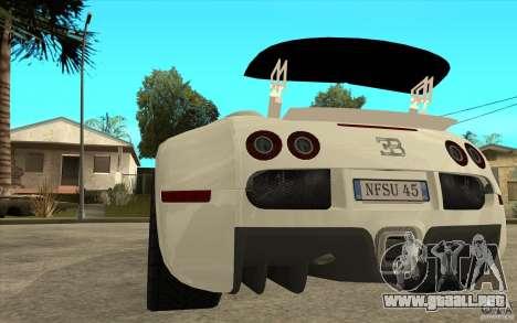 Alerón para el Bugatti Veyron Final para GTA San Andreas