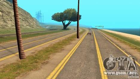 New HQ Roads para GTA San Andreas sucesivamente de pantalla