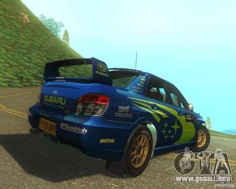 Subaru Impreza WRX STI DIRT 2 para la visión correcta GTA San Andreas
