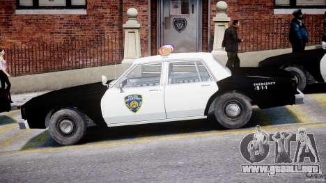 Chevrolet Impala Police 1983 para GTA 4 Vista posterior izquierda