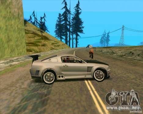 Ford Mustang GTR para GTA San Andreas left