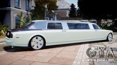 Rolls Royce Phantom Sapphire Limousine Disco para GTA 4 left
