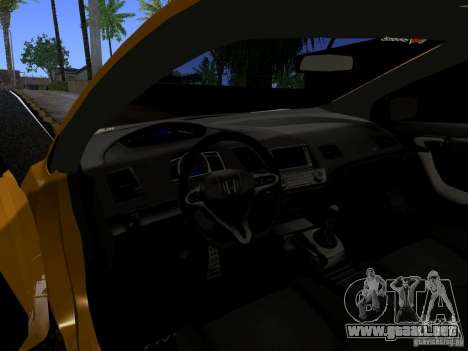Honda Civic Si JDM para GTA San Andreas vista hacia atrás