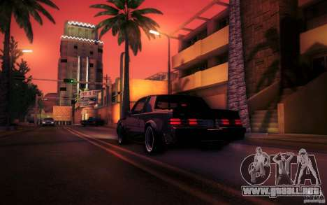 Buick Regal GNX para GTA San Andreas vista posterior izquierda