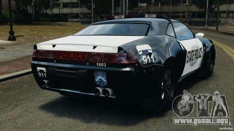NFSOL State Police Car para GTA 4 Vista posterior izquierda