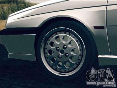 Alfa Romeo 155 1992 para vista inferior GTA San Andreas