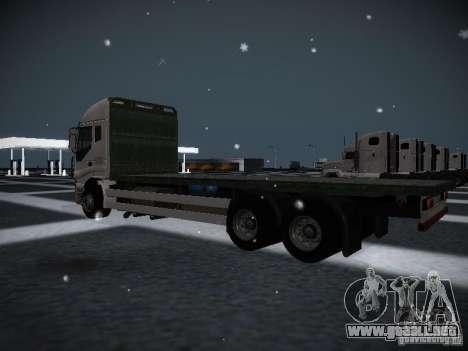 Iveco Stralis Long Truck para GTA San Andreas vista posterior izquierda