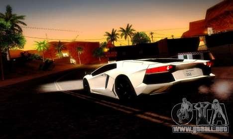 Lamborghini Aventador LP 700-4 para vista lateral GTA San Andreas