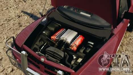 Dodge Ram 2500 Army 1994 v1.1 para GTA 4 vista hacia atrás