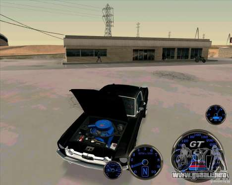 Ford Mustang Fastback para la visión correcta GTA San Andreas