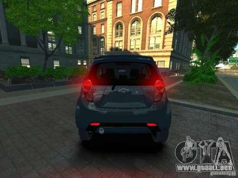 Chevrolet Spark para GTA 4 Vista posterior izquierda