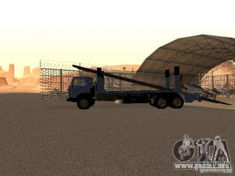 Camión KAMAZ para GTA San Andreas vista posterior izquierda