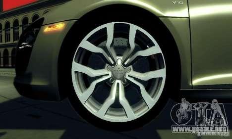 Audi R8 5.2 FSI Quattro para la visión correcta GTA San Andreas
