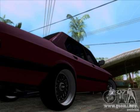 BMW 5-er E28 para visión interna GTA San Andreas
