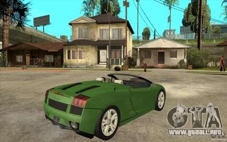 Lamborghini Gallardo Spyder para la visión correcta GTA San Andreas