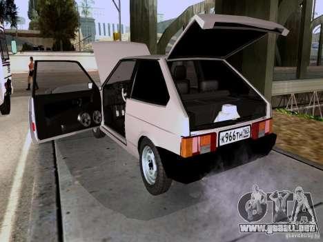 Drenaje VAZ 2108 para GTA San Andreas vista hacia atrás