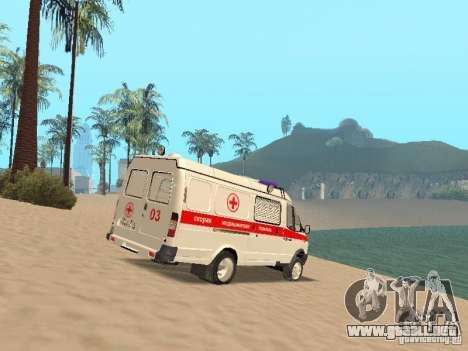 Ambulancia gacela 2705 para la visión correcta GTA San Andreas