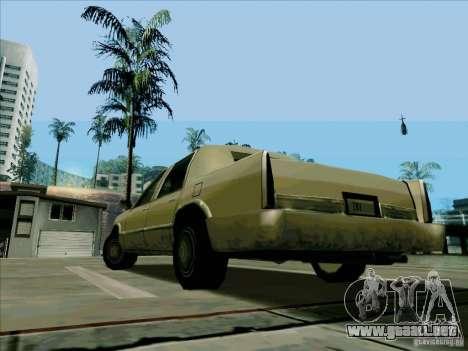 Una limusina corta para GTA San Andreas vista posterior izquierda